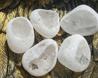 Clear Quartz Emma Egg Natural Crystal