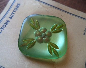 Vintage Carded Button