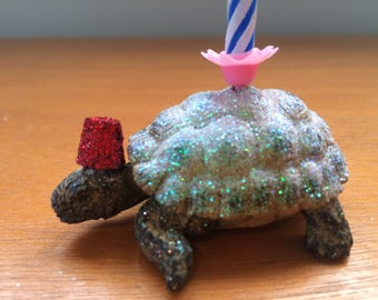 Tortoise Animal Candle - Cake Topper