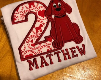 Personalized Clifford The Big Red Dog Birthday Shirt