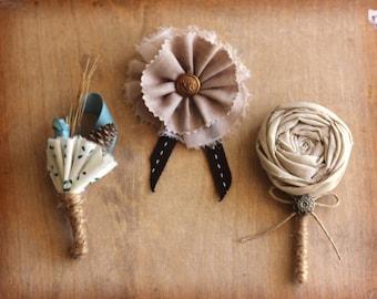 Wedding Boutonniere, men buttonhole, grooms brooch, wedding accesories