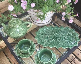 Bordallo Pinherio Garden Tea Set