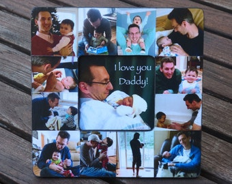 Unique Father's Day Gift, Collage Picture Frame for Dad - Personalized Picture Frame, Baby's First Year, Custom Mother's Day, Birthday Gift