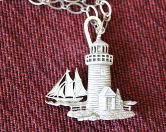 JJ Jonette's  Pewter Lighthouse and Sailboat, JJ, pewter, lighthouse, sailboat, Birthday gift, Florida souvenier, Christmas Graduation gift
