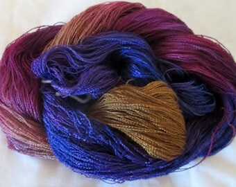 Handpainted Yarn-Soft Rayon Boucle lace Wt. - 688 yds - BOUQUET