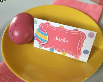 Easter Place Card. Easter Food Tent Cards. Easter Food Labels. Easter Brunch Table Decor. DIY Party Decor. *INSTANT DOWNLOAD*