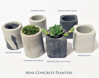 Mini Concrete Planters