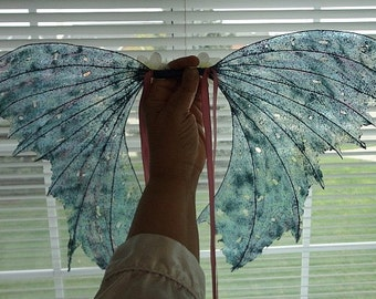 Fairy Wings-Iridescent-Crystal Blue Fairy Wings-Adults and Children (Made By Request)