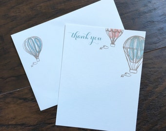 Thank you hot air balloon stationery