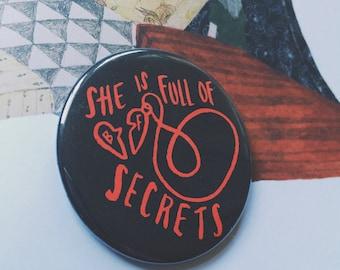 She Is Full of Secrets Twin Peaks Laura Palmer Fan Pocket Mirror