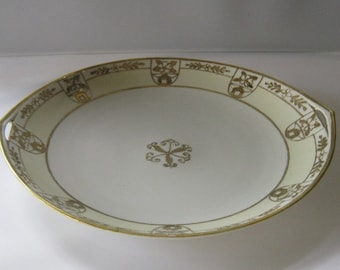 Hand Painted Nippon Plate With Gold Trim