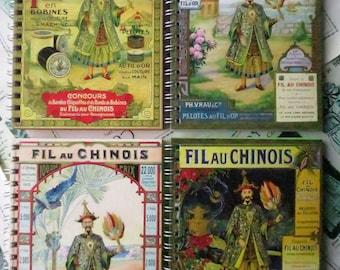 Sajou Fil au Chinoise Spiral Bound Notebook