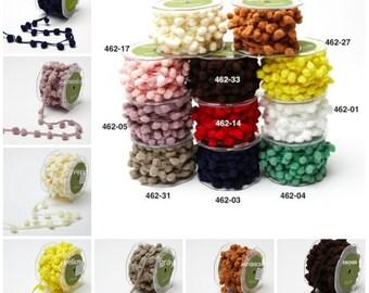 1/2 Inch Pom Pom String  select color  PRICE FOR 1 YARD