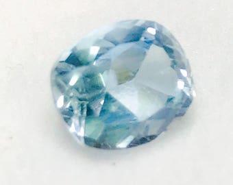 2.97 carats natural Aquamarine natural Beryl cushion cut aquamarine calibrated aquamarine 9x8 mm loose gem blue gemstone March birthstone