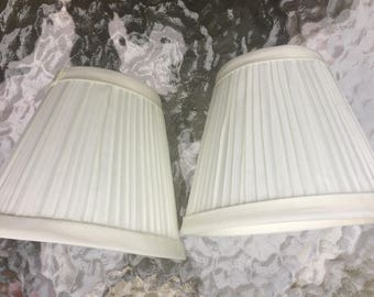 ON SALE Lamp Shades Pleated for Sconces,Mini Lamp, Chandelier Appear New Vintage