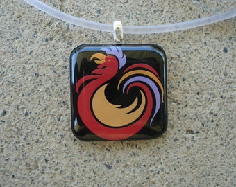 Rooster Resin Charm