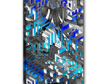 "Wrapped canvas 12""x18"" - Interdimensional (Ice)"