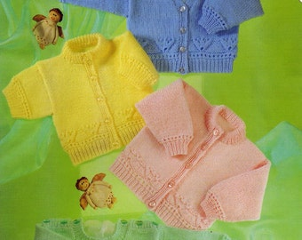 KNITTING PATTERN - Baby/Child Cardigan,Sweater, Jumper - Prem sizes up to 2 years of age Easy knit