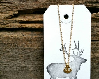 Sale!!! Tiny Gold Anchor Necklace