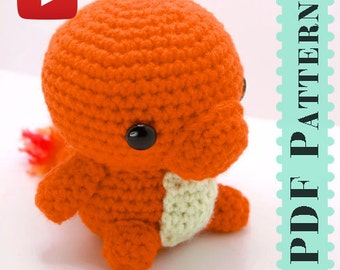 Charmander Amigurumi Crochet Tutorial Companion Pattern