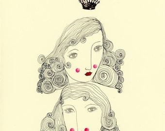 Dreaming Queens-Queens, crown, sisters, dreamers, dreaming sisters