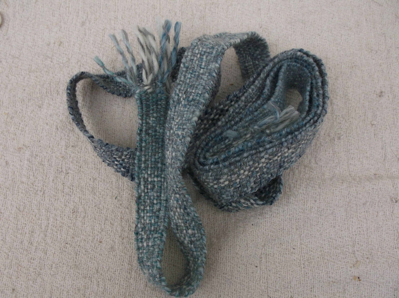 hand woven belt, medieval strap, woolen hair piece