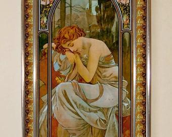 Alphonse Mucha - Night, Stained glass