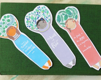 Unique bookmark gift, quote bookmarks, bookish gifts, bookworm gift print, bookmarks favors - B006