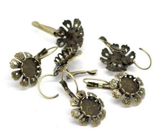 Fleur pr cameo earring pair