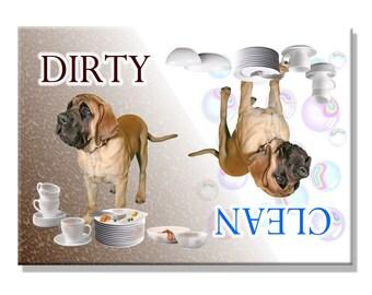 Mastiff Clean Dirty Dishwasher Magnet No 1