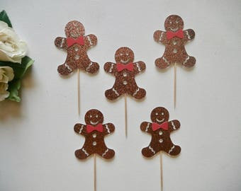Gingerbread Cupcake Toppers
