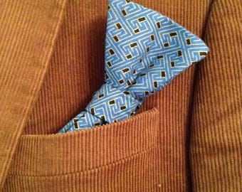 Blue & Gold Bow Tie