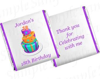 Personalised Birthday Chocolates  - Birthday Cake Design, Any Age