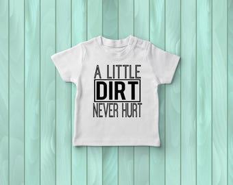 A Little Dirt Never Hurt Tee, Boys' Tee Shirt, Toddler Tee, Kids' Clothing