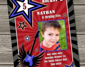 Rockstar Birthday Invitation (Digital Printable File)