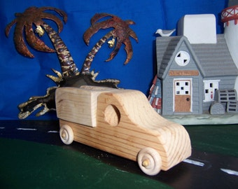 Toy Work Truck for Children, Kids at Playtime, from Reclaimed Wood