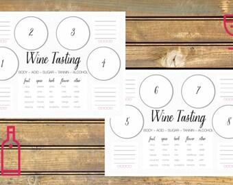 Wine Tasting Scorecard Printable