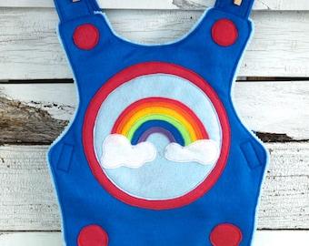 Rainbow Knight Breastplate, Felt Breastplate, Kid Costume