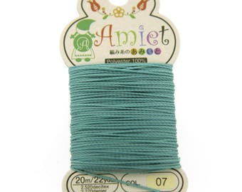 Teal Toho Amiet Polyester Thread 22yrds/20m