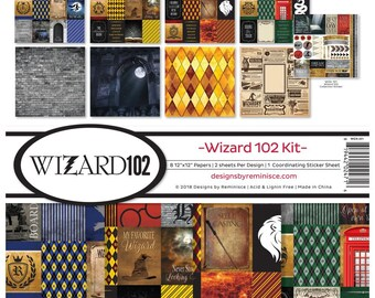 WIZARD 102 from REMINISCE-  **PREOrder**  HARRY POTTeR Style Papers -  Collector's Edition Set  - Limited Edition !!