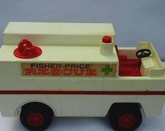Vintage 1974 Fisher Price RESCUE Truck #303