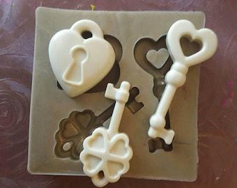 Silicone rubber mold keys more padlock-FAVOR IDEA