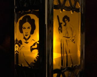 Tribute to Princess Leia Inspired Battery-Operated Plastic Mini Lanterns (Gold)