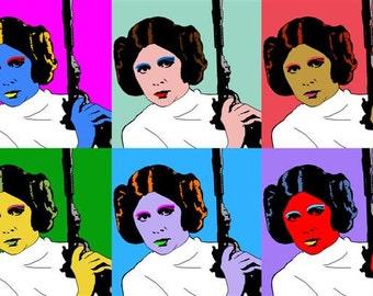 """Warhol Princess Leia Print - Star Wars 11"""" x 17"""""""