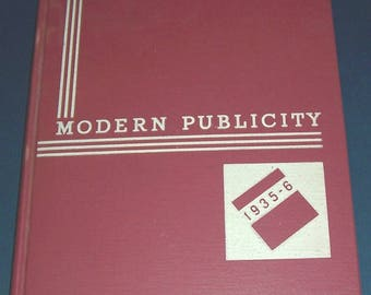 1935-36 Modern Publicity review, hardcover