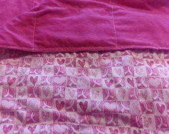 Breast Cancer 10 lb twin bed size weighted blanket 42 x 72