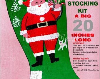 PDF for Vintage Santa's Pack Christmas Stocking - Digital Download