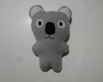 Simple stuffed koala, gray koala stuffie, koala plush, soft koala friend, small stuffed animal, passive koala toy, Australian animal, baby