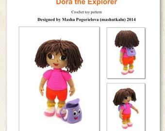 Dasha - pdf crochet toy pattern, amigurumi doll tutorial