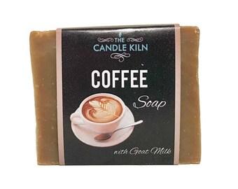 Coffee PREMIUM Cold Process Soap with GOAT MILK